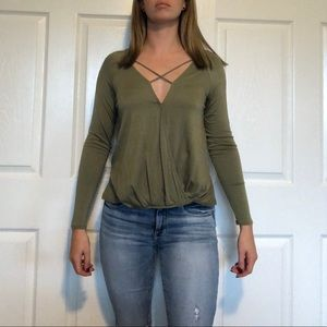 Francesca's (Miami): Criss Cross Wrap Top